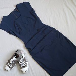 BCBGMaxAzria Joana Dark Ink Sheath Dress